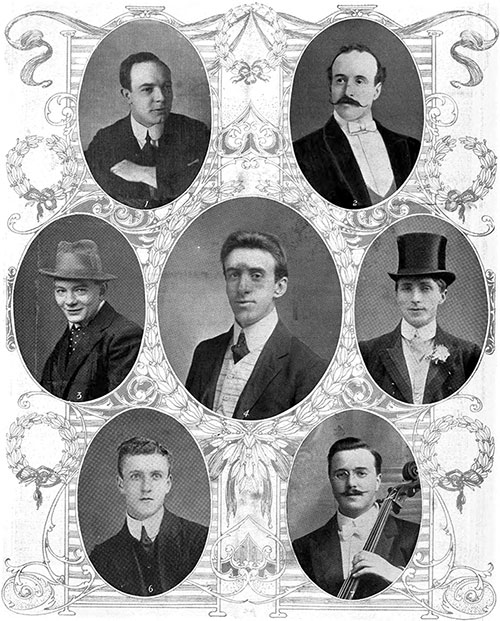 Titanic's Brave Musician Heroes - Led by Mr. W. Hartley of Dewsbury