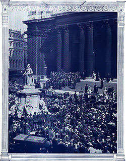 The Crowd Outside St. Paul's at the Conclusion of the Titanic Memorial Service on 19 April 1912