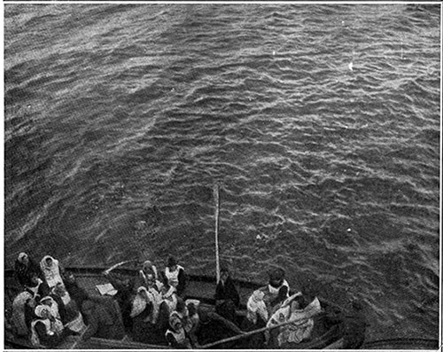 Drawing Alongside the Carpathia to Be Picked Up, Survivors of the Titanic Disaster, Mostly Women, in One of the Ill-Fated Liner's Less Crowded Life Boats.
