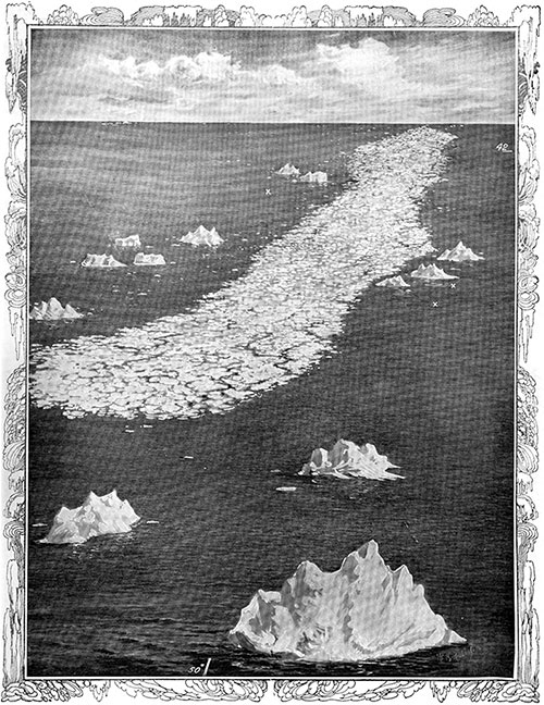 Sixty-Nine Miles Long and from Three to Twelve Miles Wide: The Great Ice-Floe Encountered by the Ill-Fated Titanic.