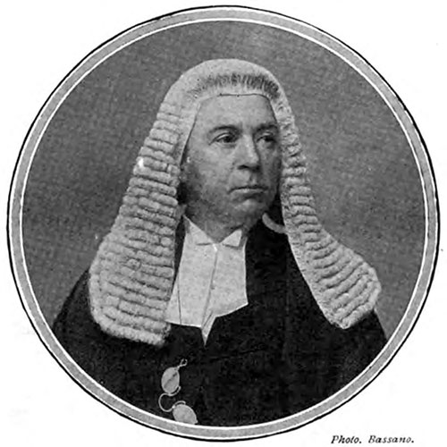 Lord Mersey, Presiding as Wreck Commissioner, over the British Court of Inquiry into the Titanic Disaster.