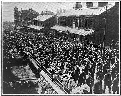 Funeral Procession of MR. Wallace Hartley of the RMS Titanic in Colne, Lancashire