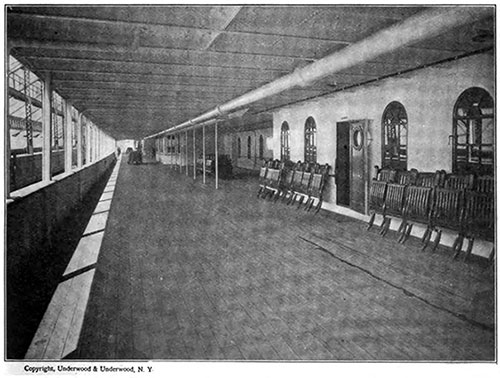 The Spacious Promenade Deck of the Ill-Fated Titanic