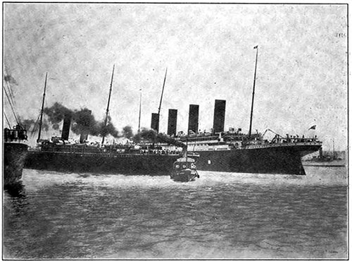 At Southampton, the Giant Titanic Narrowly Averted a Collision with the Steamship New York