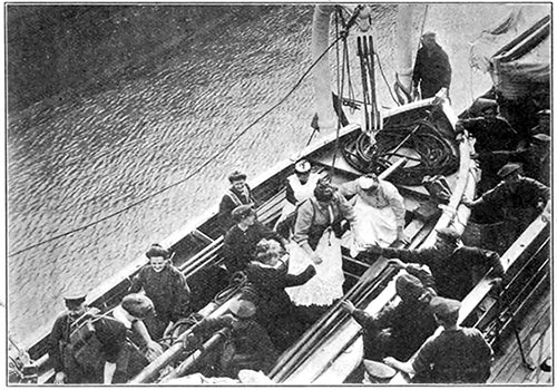 "A Test of the ""Kaiser Wilhelm Ii's"" Life-Boats at Hoboken"