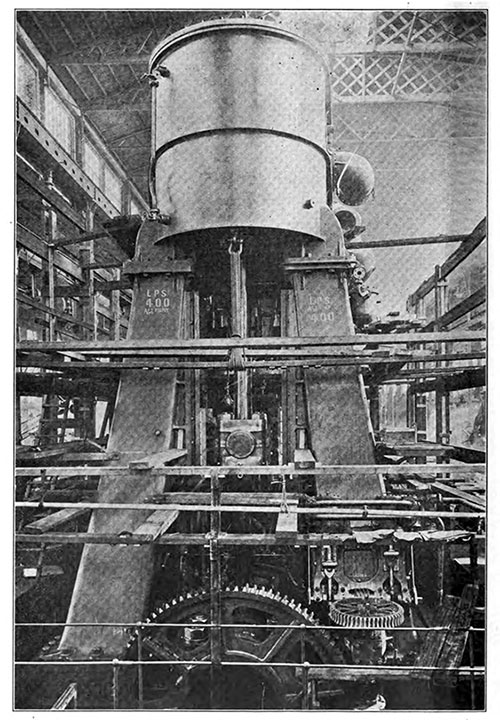 View of the Starboard Reciprocating Engines on the RMS Titanic.