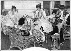 Housewives enjoy afternoon tea and coffee