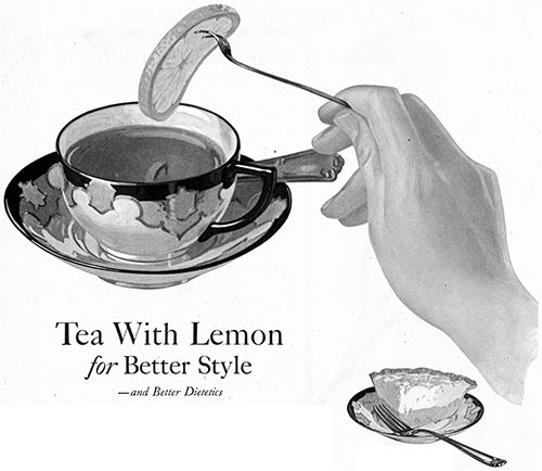 Tea With Lemon for Better Style