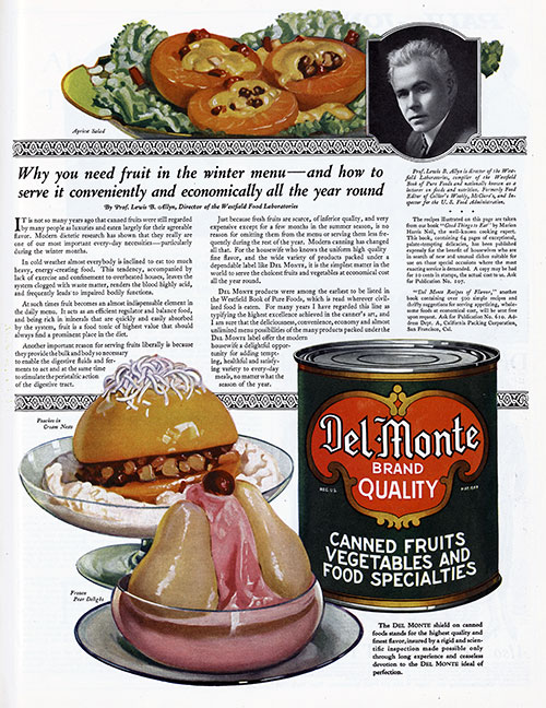 Del Monte Canned Fruits, Vegetables and Food Specialties © 1921