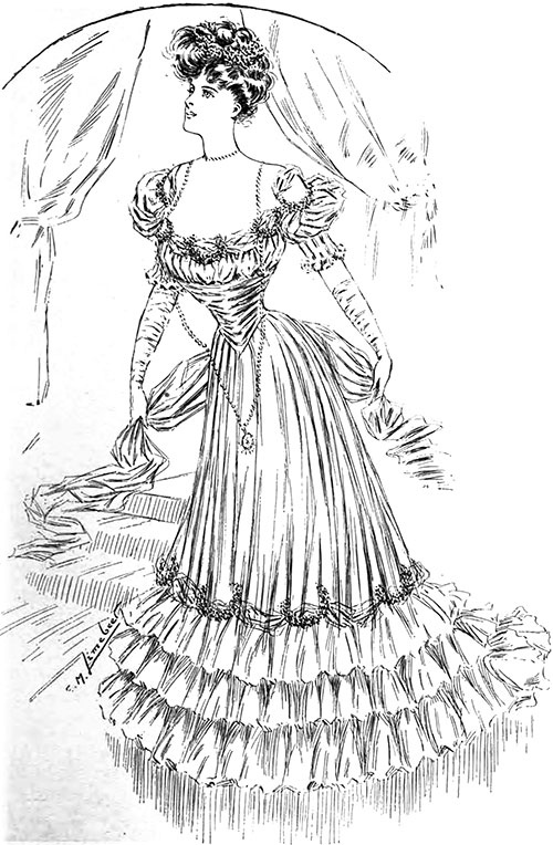 Figure 7: Delightful Ball Gown for a Debutante