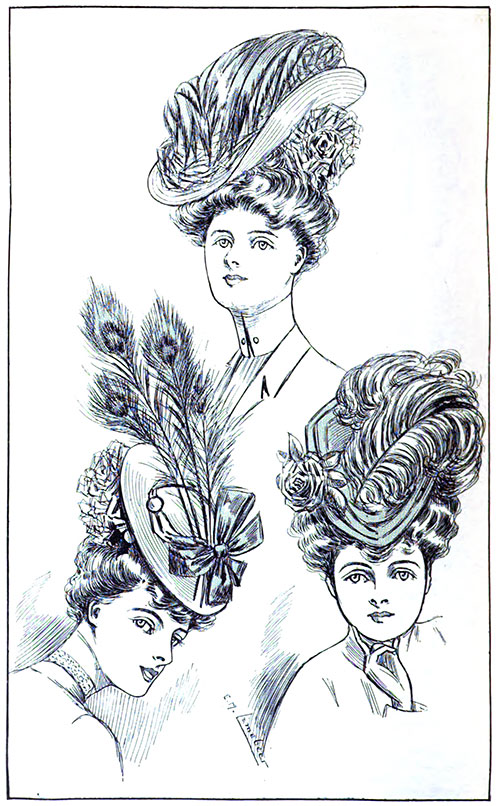 Figure 3: Three Smart Hats from Paquin's