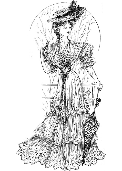 Figure 2: Lace Frock for Ascot