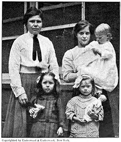 Two Widows and Their Children. Steerage Survivors Who Will Find the Relief Fund a Godsend.