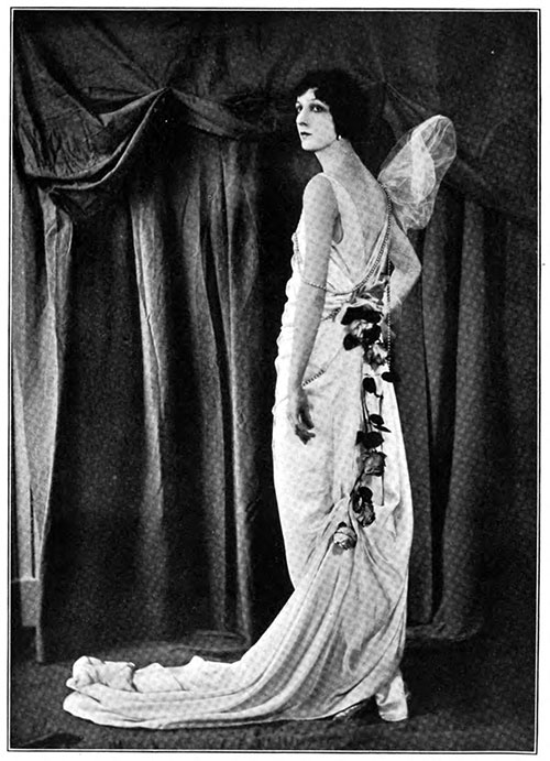 Parchment Charmeuse Evening Gown by Hickson