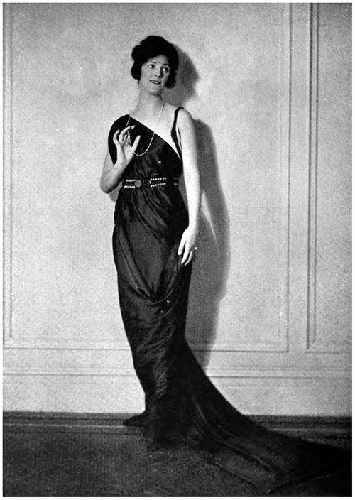 Evening Gown by Bergdorf-Goodman, of Havana Brown Charmeuse