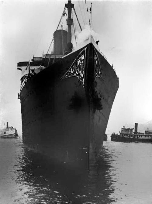 The SS Vaterland at Anchor off Quarantine
