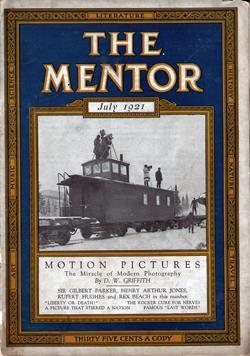 Front Cover, Motion Pictures, The Mentor Magazine, July 1921