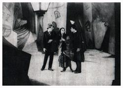 "The scenes made for ""The Cabinet of Dr. Caligari"""