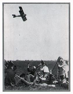 Filming A Flight circa 1920