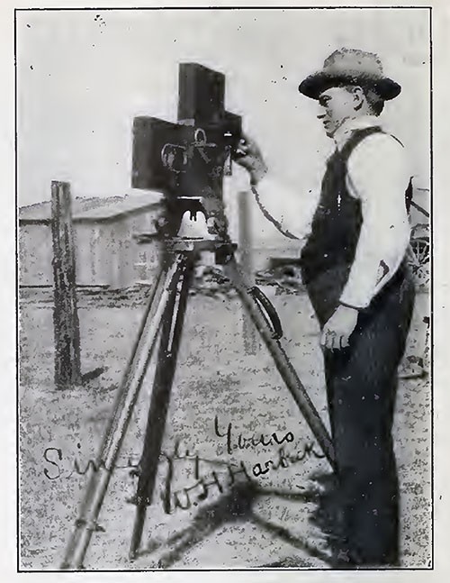 Early 20th Century Cinematographer William H. Harbeck in a Characteristic Pose