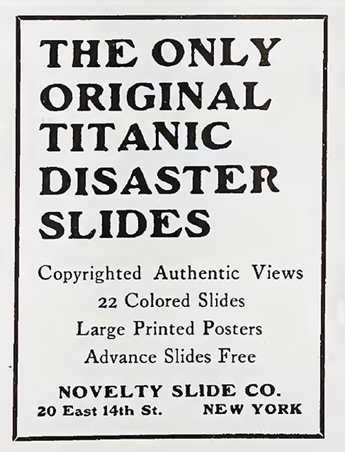 The Only Original Titanic Disaster Slides.
