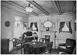 Sitting Room of Parlor Suite on the Steamship Titanic