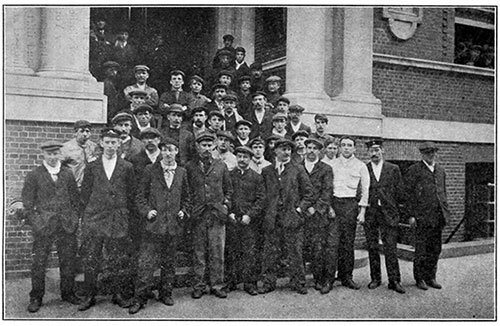 Some of the Crew Members of the RMS Titanic at the A.S.F.S. Institute.