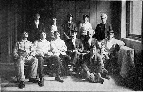 Group Photo of Rescued Cooks and Stewards of the RMS Titanic