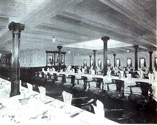 Second Cabin Dining Saloon Where First and Second Class Titanic Survivors Were Served Their Meals