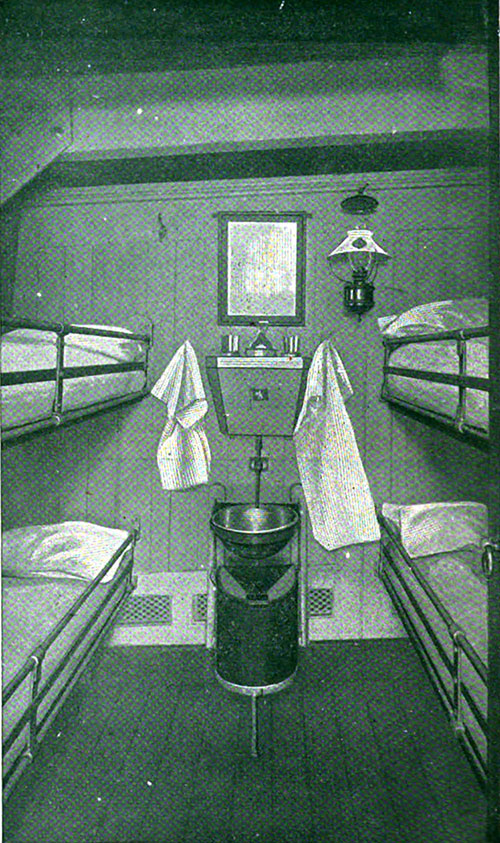 Third Class Four-Berth Room on the Carpathia