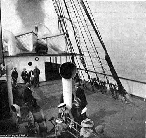 Passengers Relaxing While Traveling through the Penland Firth on the Carpathia