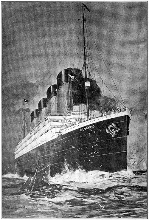 The RMS Olympic - The Largest Steamship Afloat.