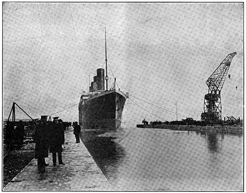 The Olympic Entering Dry Dock at Belfast