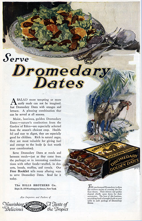 Serve Dromedary Dates on Salads