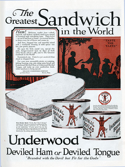 Underwood Deviled Ham or Deviled Tongue Vintage Ad