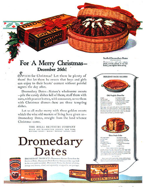 For a Merry Chirstmas, Serve Dromedary Dates