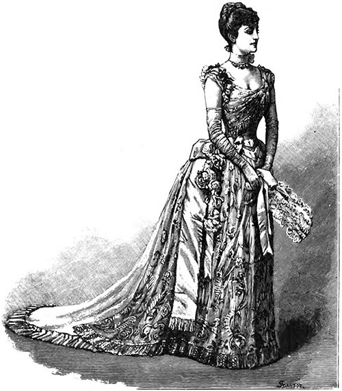 Mme. Patti in Evening Concert Dress