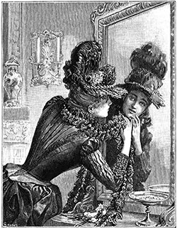 Black Lace Hat and Boa, Designed by Mme. Virot