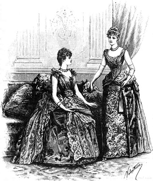 Evening Outfits, Designed by Mme. Eliza Nicole, New Bond Street