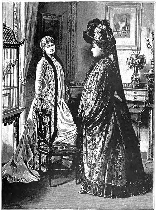 Costumes of Jane Hading—Robe and Mantle from the Maison Laferrière, Hat from the Maison Virot.