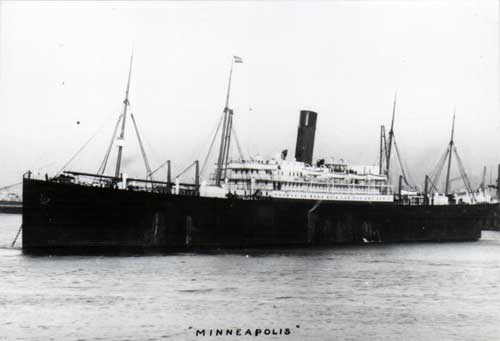 Photograph of the S.S. Minneapolis of the Atlantic Transport Line, 1901