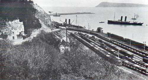 View of Fishguard Harbour circa 1913