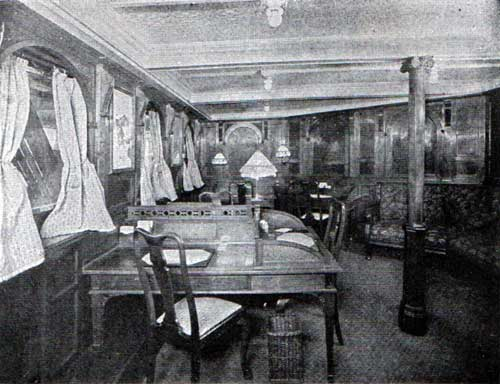 Cabin Writing Room - SS Stavangerfjord and Bergensfjord 1924