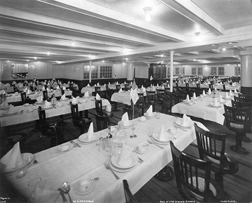 Third Class Dining Room - MS Gripsholm - circa 1925