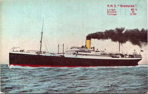 postcards of steamships of the allan royal mail line