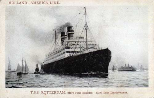 T.S.S. Rotterdam From 1909 Postcard