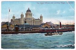 The Dock Offices and Landing Stage, Liverpool, 1900s
