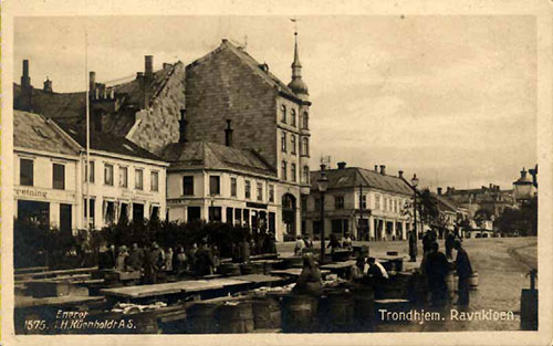 Postcard of Ravnkloen, Trondhjem, Norway from the early 1900s