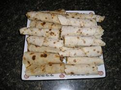 Potato Lefse Prepared Norwegian Style with Brown Sugar and Butter