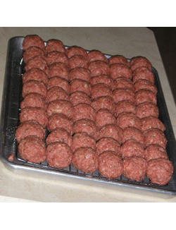 Swedish Meatballs ready for baking
